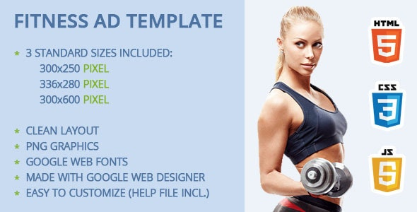Fitness Ad Template - CodeCanyon Item for Sale