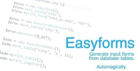 Easyforms - Generate Forms from DB