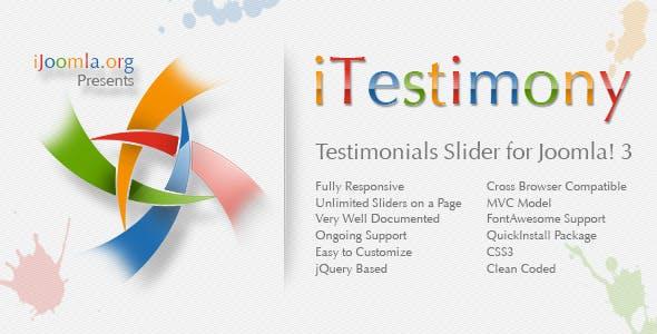 iTestimony - Testimonials Slider for Joomla 3