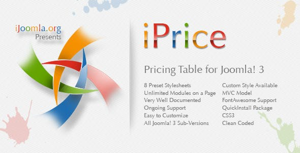 iPrice - Responsive Pricing Table for Joomla