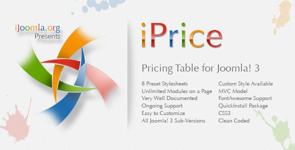 iPrice - Responsive Pricing Table for Joomla - CodeCanyon Item for Sale