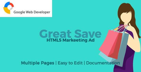 GreatSale HTML5 Ad Template