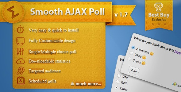 Smooth Ajax Poll - CodeCanyon Item for Sale