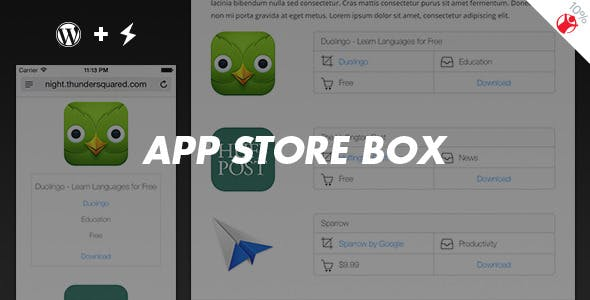App Store Box - Fancy reviews maker for WordPress