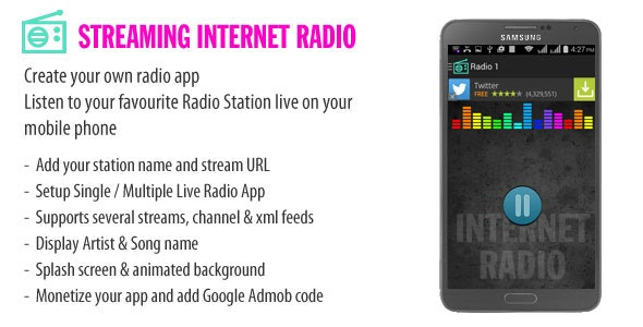 Radio Android App - CodeCanyon Item for Sale