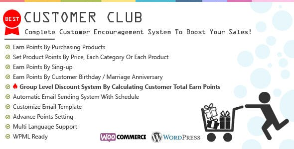 Customer Club : Advanced WooCommerce Point System