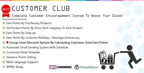 Customer Club : Advanced WooCommerce Point System