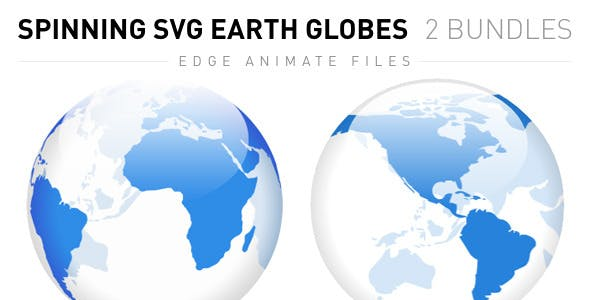 Spinning SVG Earth Globes: Flat and 3D
