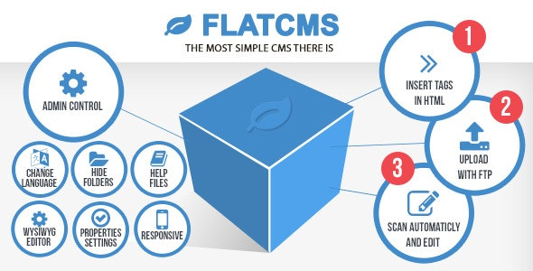 FLATCMS for static websites - CodeCanyon Item for Sale