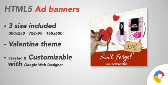 Ad HTML5 Template | Valentine's Day