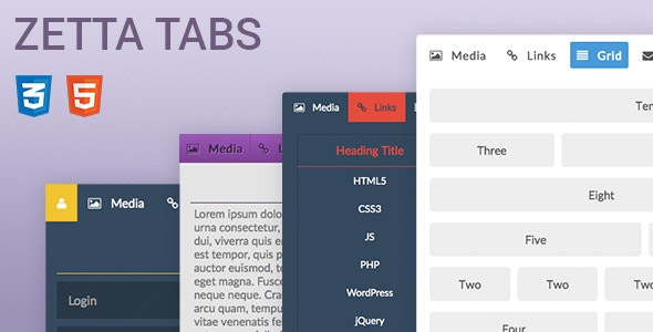 Zetta Tabs - CodeCanyon Item for Sale