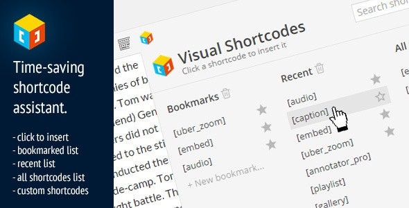 Visual Shortcodes for WordPress - CodeCanyon Item for Sale