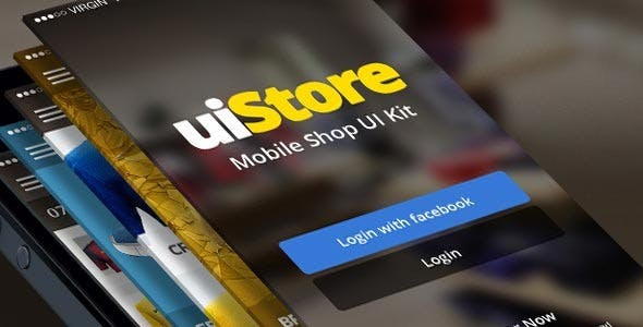 uiStore iOS Template - Mobile UI Kit