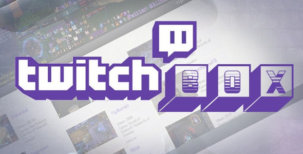 TwitchBox For Wordpress - Stream Twitch Videos - CodeCanyon Item for Sale