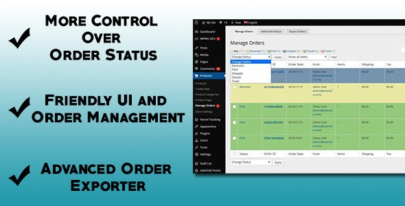 Advanced Order Management for Marketpress - CodeCanyon Item for Sale