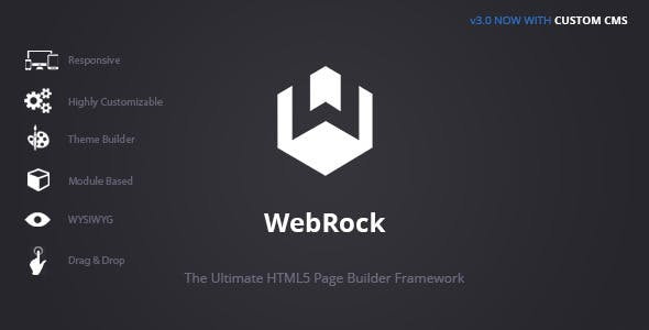 WebRock - Page Builder Framework for HTML5