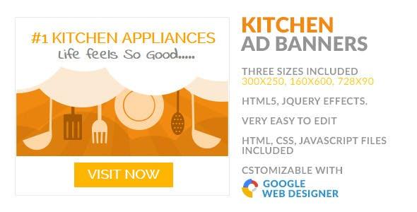Kitchen Appliances Store HTML5 GWD AD Banner