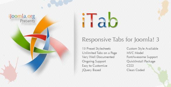 iTab - Responsive TabStrip Module for Joomla! 3
