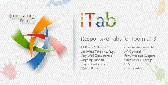 iTab - Responsive TabStrip Module for Joomla! 3 - CodeCanyon Item for Sale