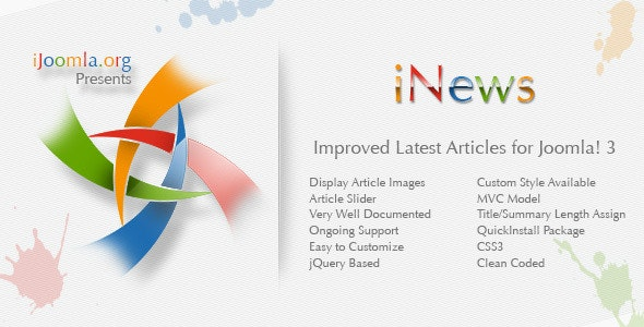 iNews - Improved Latest Articles Module - CodeCanyon Item for Sale