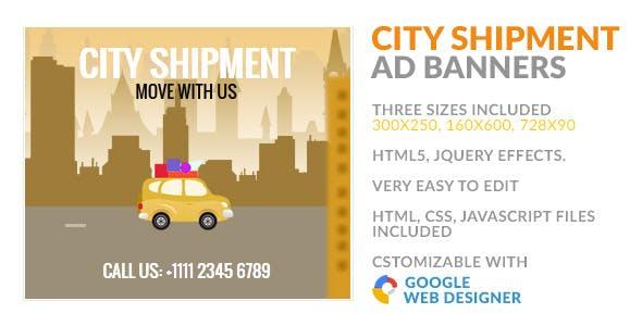City Shipment Transfer GWD HTML5 Ad Banner