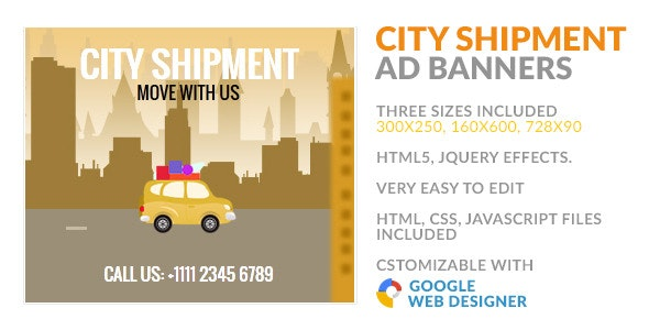 City Shipment Transfer GWD HTML5 Ad Banner - CodeCanyon Item for Sale