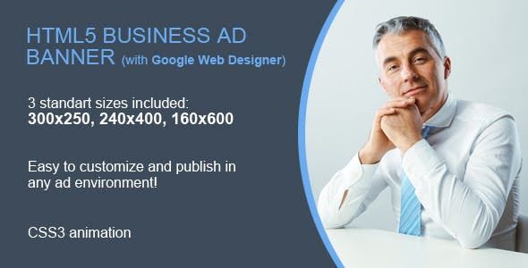 HTML5 Business Ad Banner