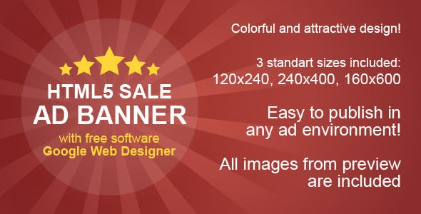 HTML5 Sale Ad Banner