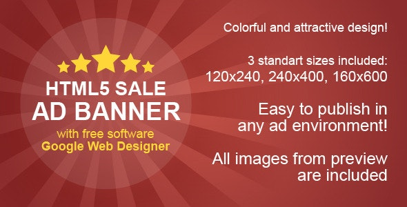 HTML5 Sale Ad Banner - CodeCanyon Item for Sale