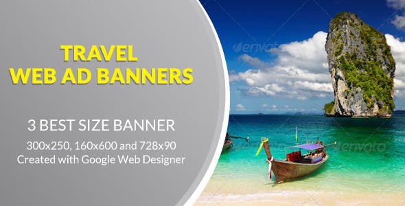 Travel Web Ad Banners