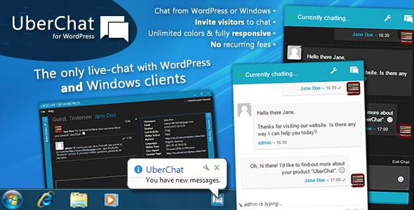 Uber Chat - Ultimate Live Chat with Windows Client - CodeCanyon Item for Sale