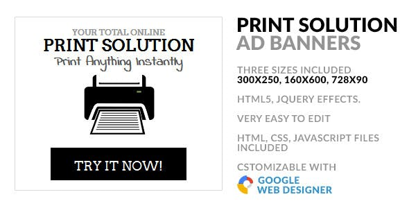 Online Print Service HTML5 GWD Ad Banner