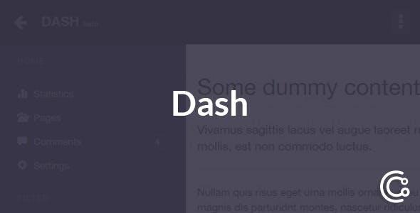 Dash - Responsive Bootstrap Dashboard Navbar