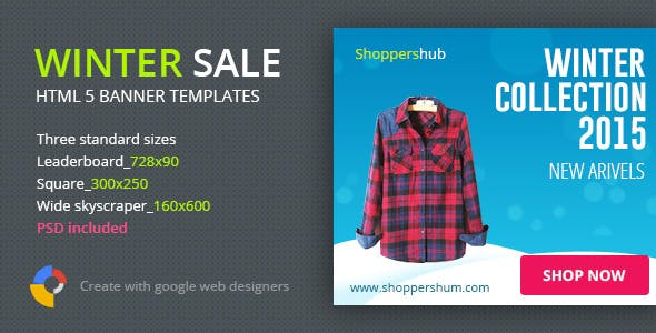 Winter Sale Shopping | HTML5 Banner Template