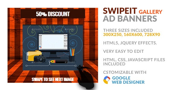 SwipeIt - Gallery HTML5 GWD Ad Banner - CodeCanyon Item for Sale