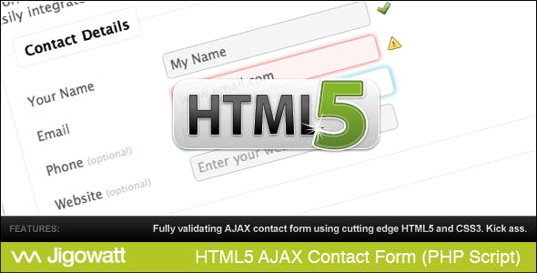 HTML 5 AJAX Contact Form        Nulled