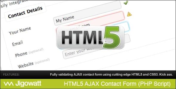 HTML 5 AJAX Contact Form