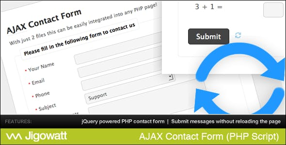 AJAX Contact Form        Nulled