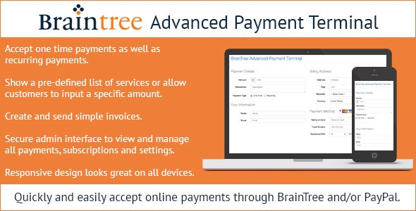 Braintree Advanced Payment Terminal - CodeCanyon Item for Sale