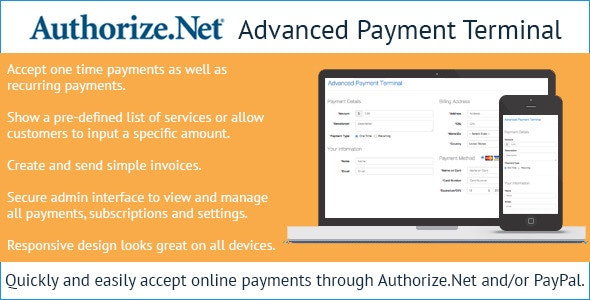 Authorize.Net Advanced Payment Terminal - CodeCanyon Item for Sale