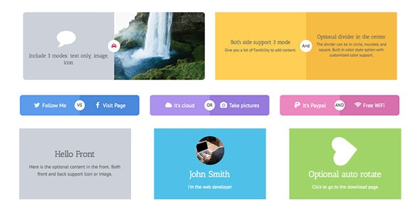 WPBakery Page Builder (formerly Visual Composer) Add-on - Side by Side Card and Cube Box - CodeCanyon Item for Sale