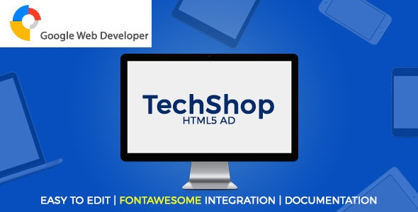 TechShop HTML5 Ad - CodeCanyon Item for Sale