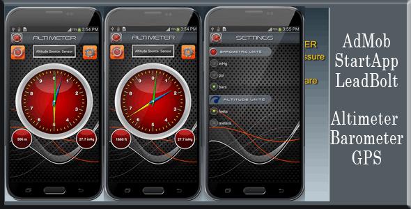 Altimeter - AdMob, StartApp and LeadBolt