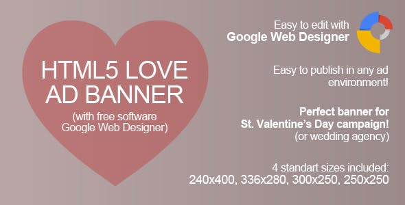 HTML5 Love Ad Banner