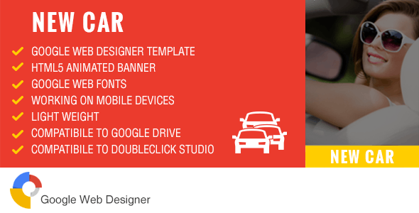 New Car - Ad Banner Template GWD - CodeCanyon Item for Sale