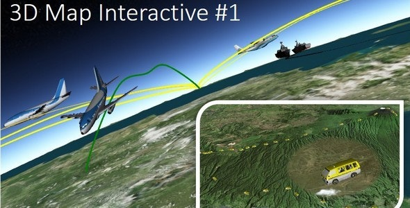 3D Map Interactive #1 - CodeCanyon Item for Sale