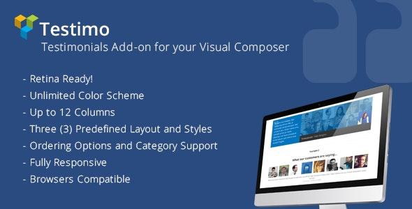 Testimo | Testimonial Add-on for Visual Composer - CodeCanyon Item for Sale