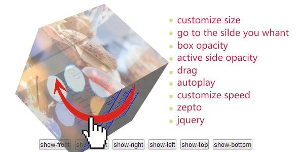 CSS3 HTML5 3D Cube Gallery