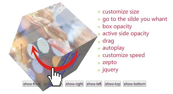 CSS3 HTML5 3D Cube Gallery - CodeCanyon Item for Sale