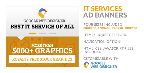 IT Service Provider Navigable HTML5 GWD Ad Banner